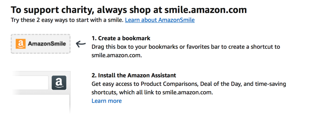 Amazon Smile Bookmark